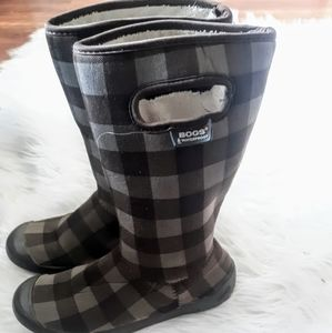 Bogs-Summit plaid.Youth size 3 (brown)